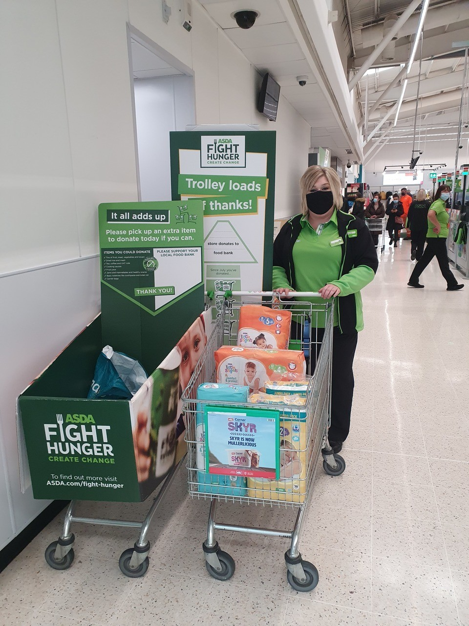 Food bank donation from Asda Kilmarnock | Asda Kilmarnock