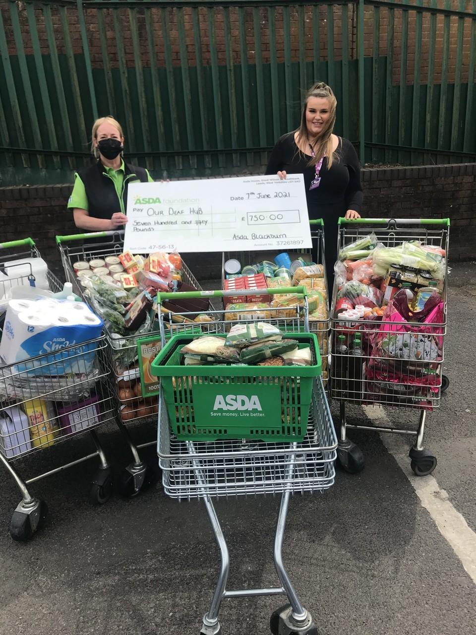 £750 grant for Our Deaf Hub | Asda Blackburn
