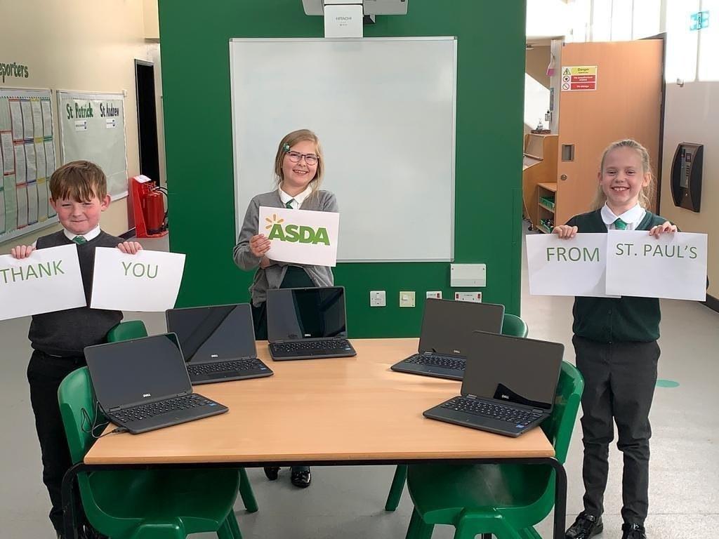 Laptops for St Paul's Primary School   Asda Hamilton