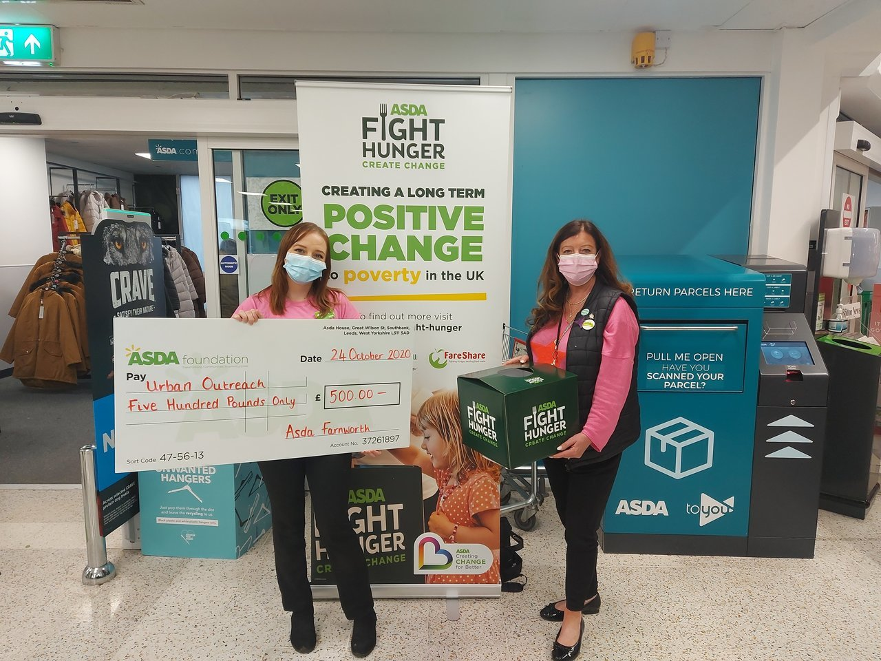 Healthy holidays support for Urban Outreach | Asda Farnworth