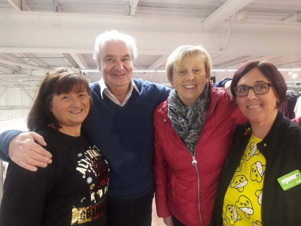 Shoppers reunited with Asda Boldon colleagues Helen and Linda who saved his life