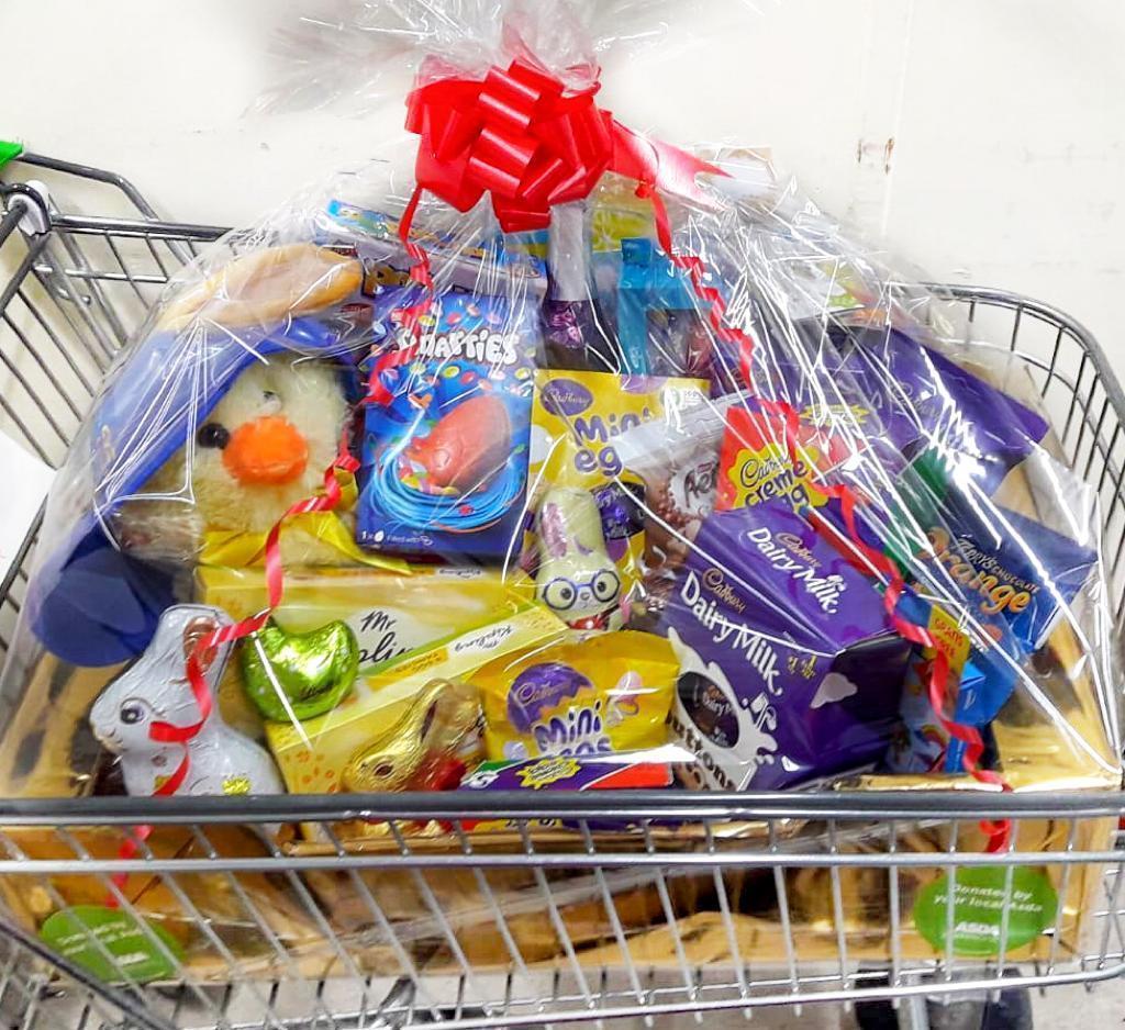Easter Hamper for Oakdale Infant School   Asda Leyton Mills