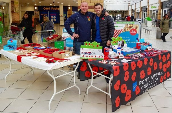 Poppy Appeal at Asda Hunts Cross