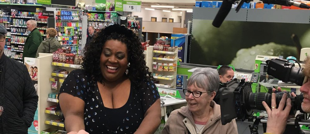 ITV This Morning star Alison Hammond paying for a customer's shopping at Asda Byker
