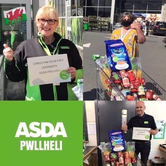 Donation to  | Asda Pwllheli