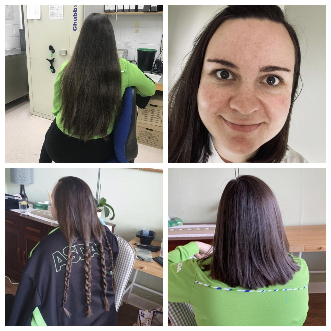 Asda Ayr colleague Hannah has donated locks to Little Princess Trust | Asda Ayr