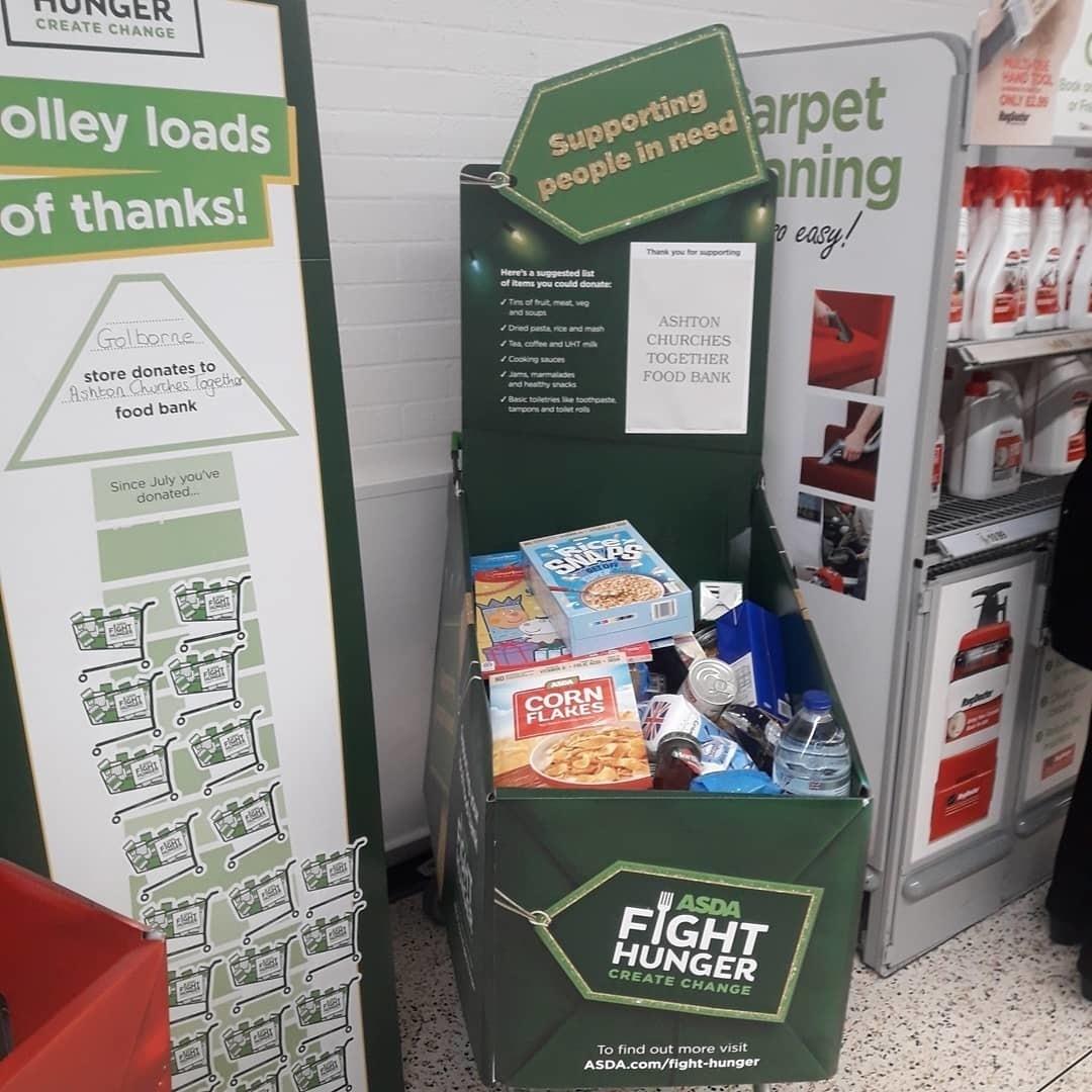 Gift Appeal Trolley and Food Bank Trolley | Asda Golborne