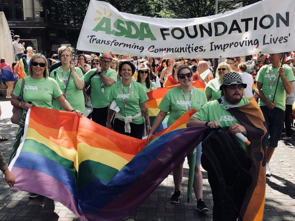 Some of the Asda colleagues at Nottingham Pride