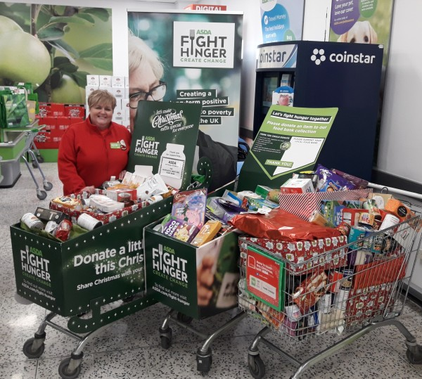 Thank you to the generous customers at Asda Gosforth for donating to their local foodbank