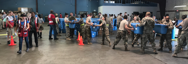 Military members helping with hurricane relief