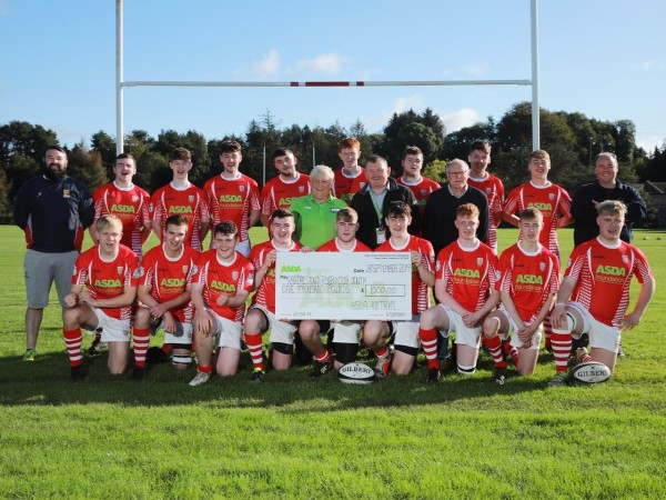 An Asda Foundation grant for £1,000 has paid for new kits for Randalstown Rugby Club Youth under 18s