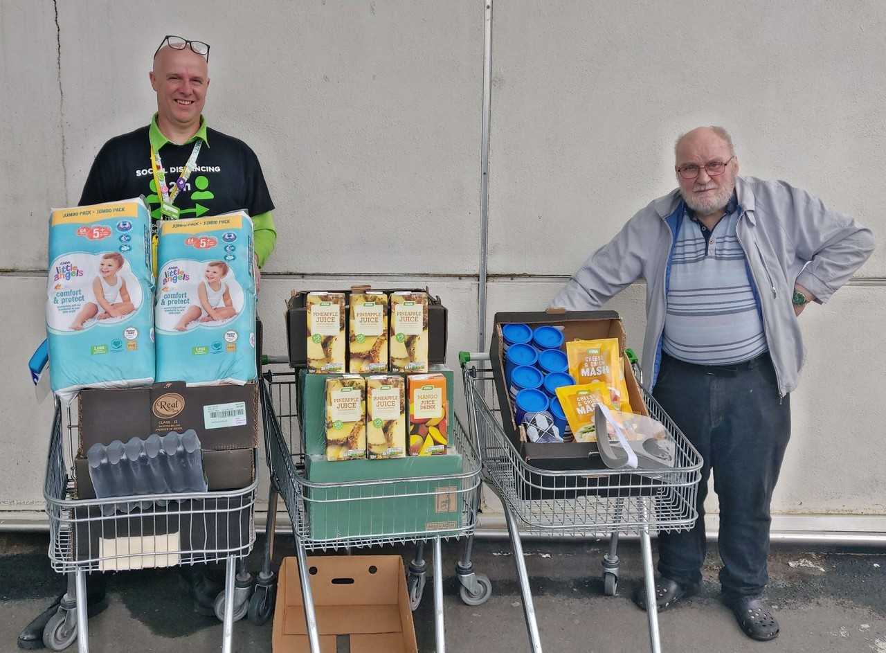 Northern Devon Foodbank donation   Asda Bideford