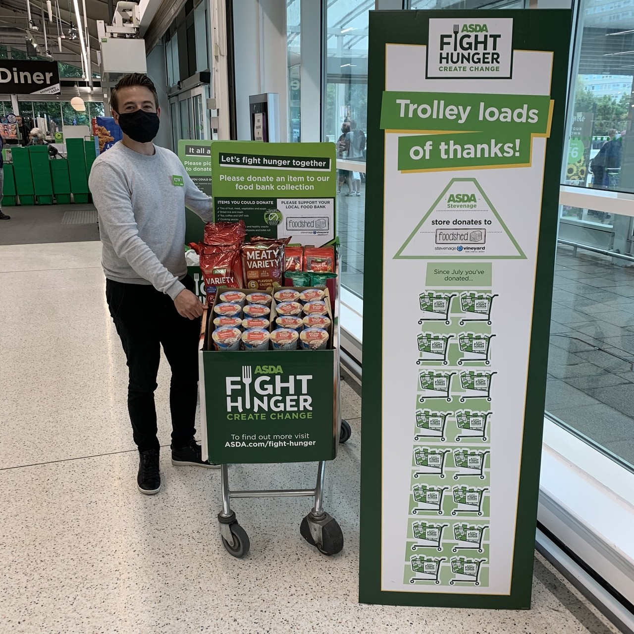 Trolley loads of thanks! | Asda Stevenage