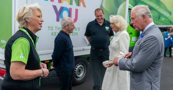 The Prince of Wales and The Duchess of Cornwall visit the Asda distribution centre in Bristol