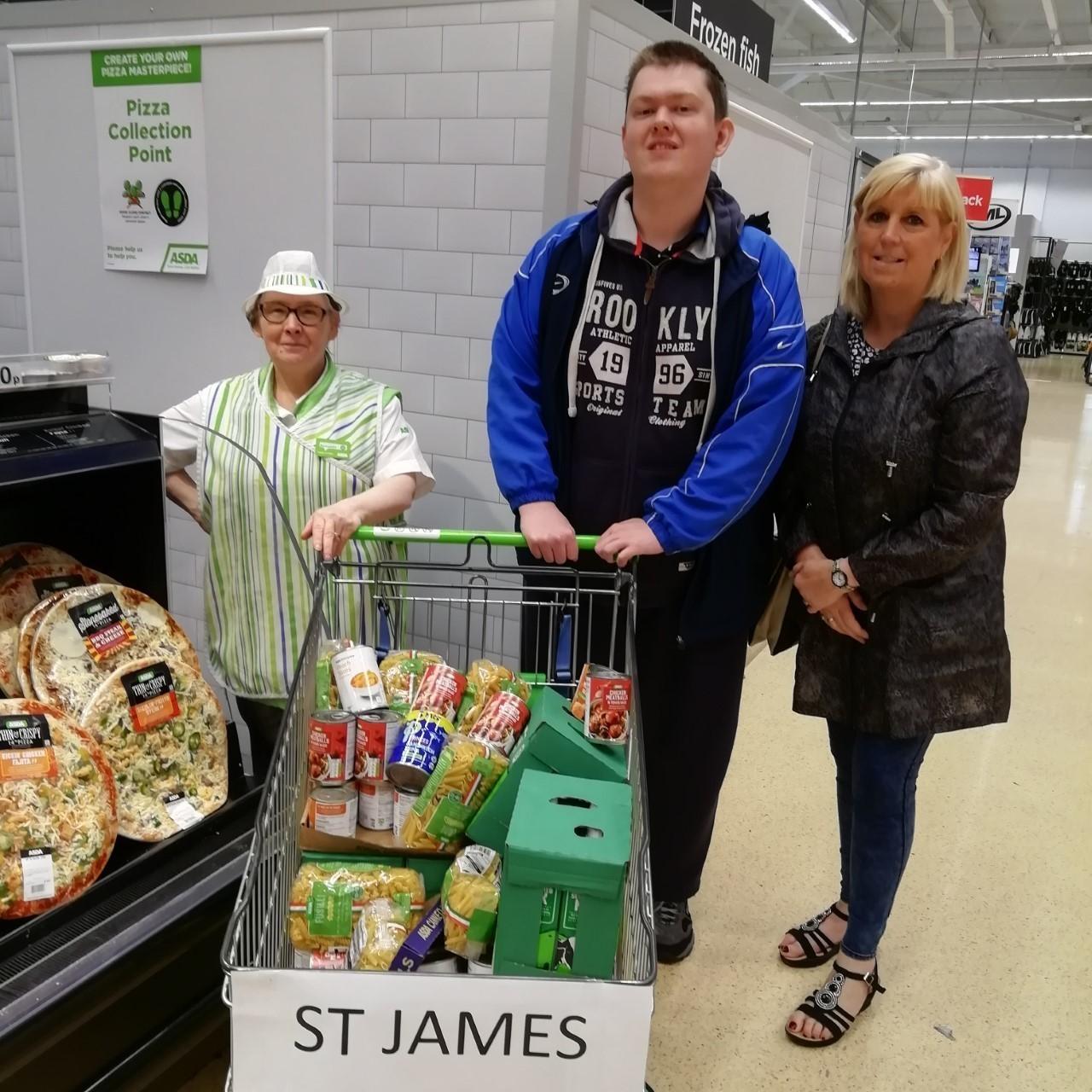 Accrington Asda helps St James' Foodbank | Asda Accrington