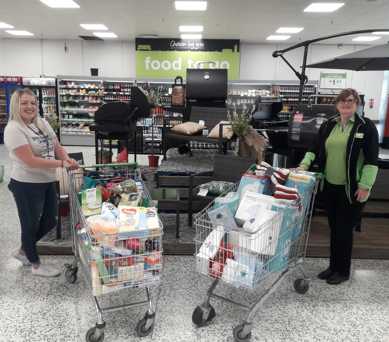 Asda Kirkcaldy donated a trolley of items to Fife Womens Aid this month.  | Asda Kirkcaldy
