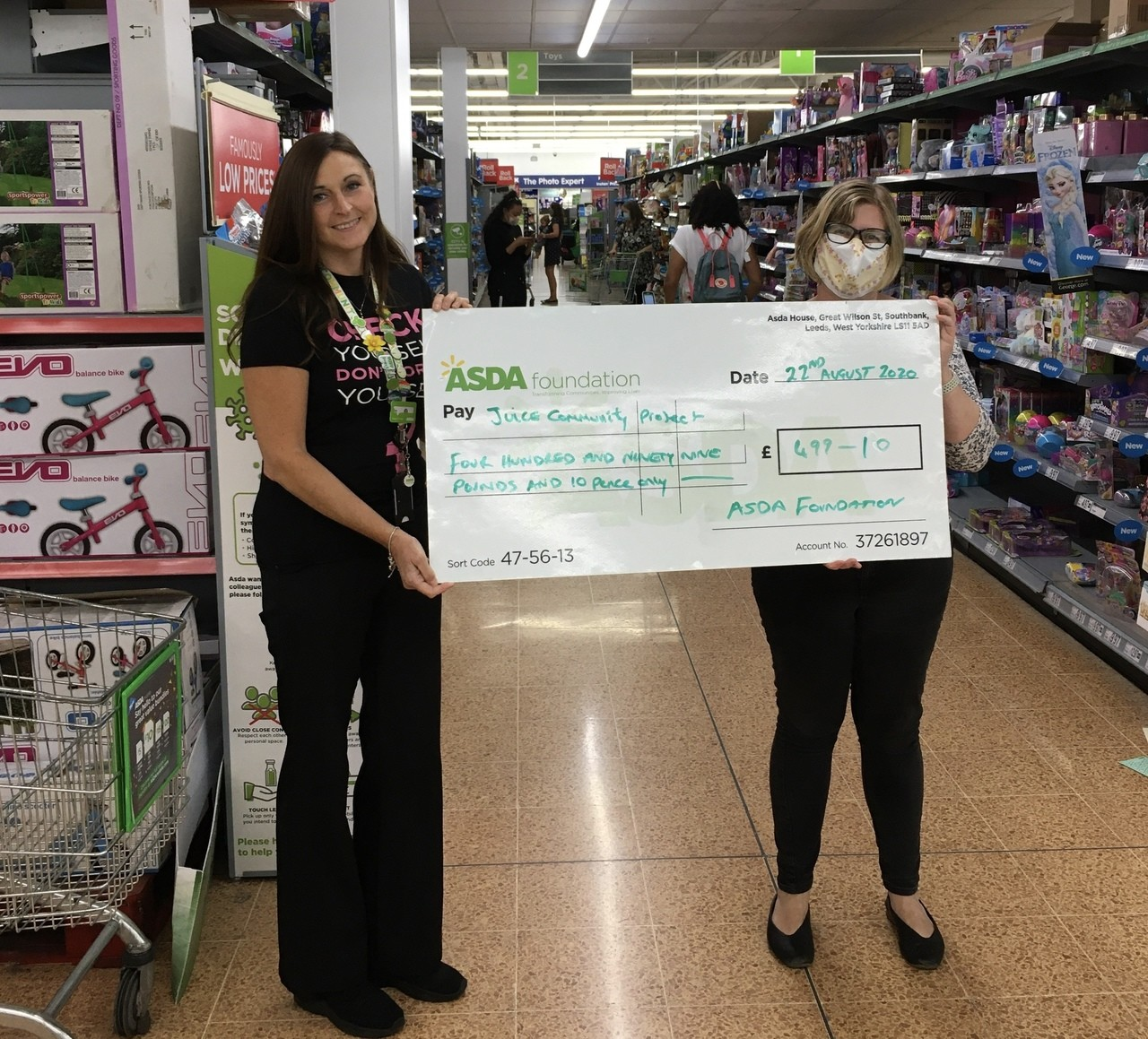 Heathy holiday ASDA Foundation Grant for Juice Community Project  | Asda Longwell Green