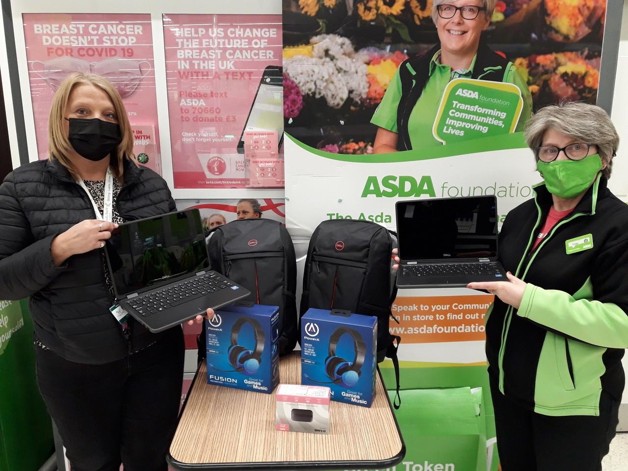 Laptop donation | Asda Darlaston