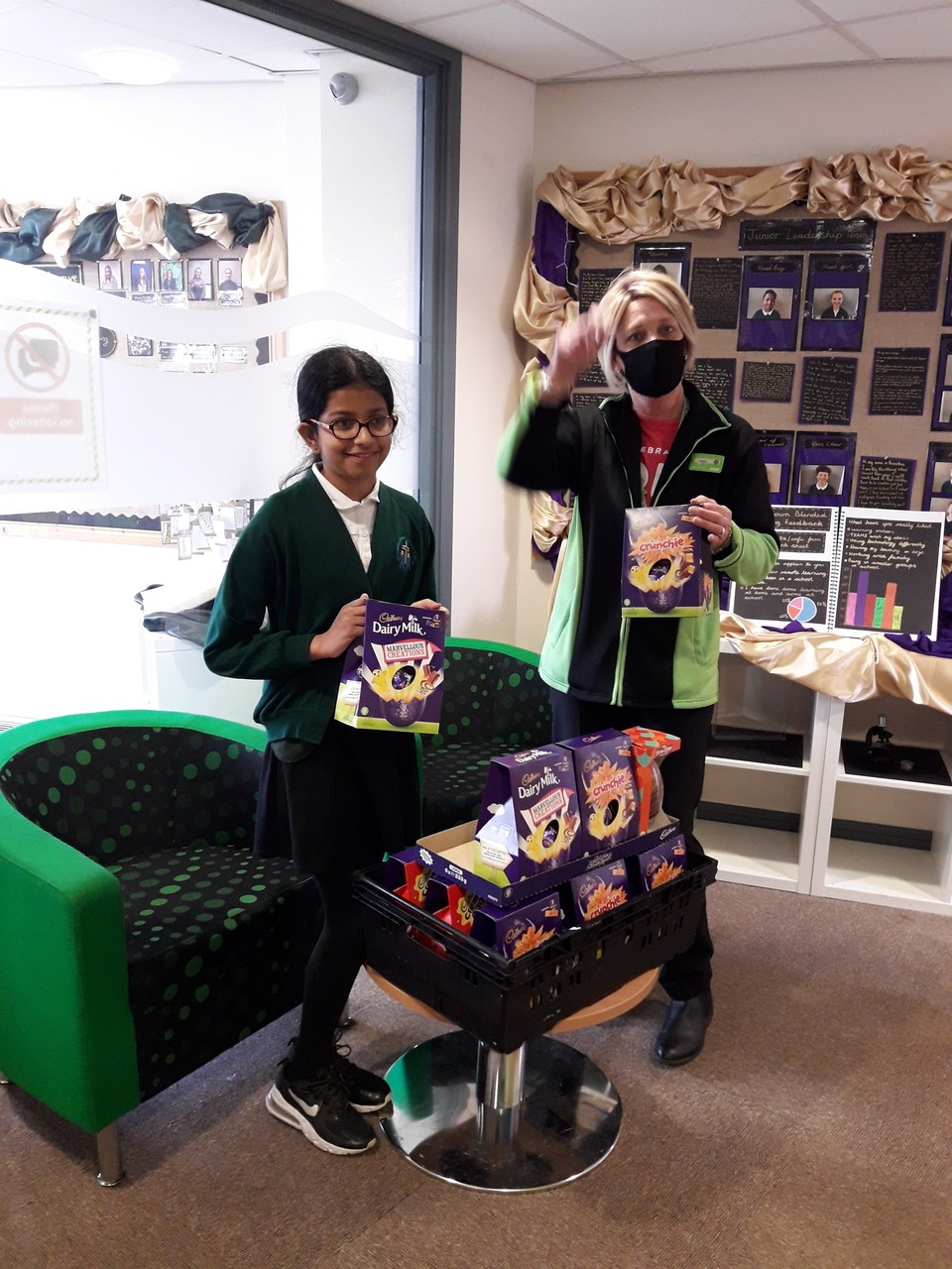 We donated Easter eggs for our local Walsgrave C of E school PTA | Asda Coventry