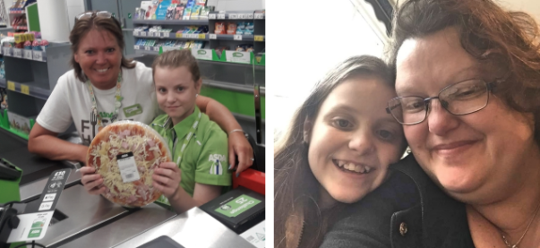 Melissa Taylor-Grounsell loved her day helping at Asda Isle of Wight