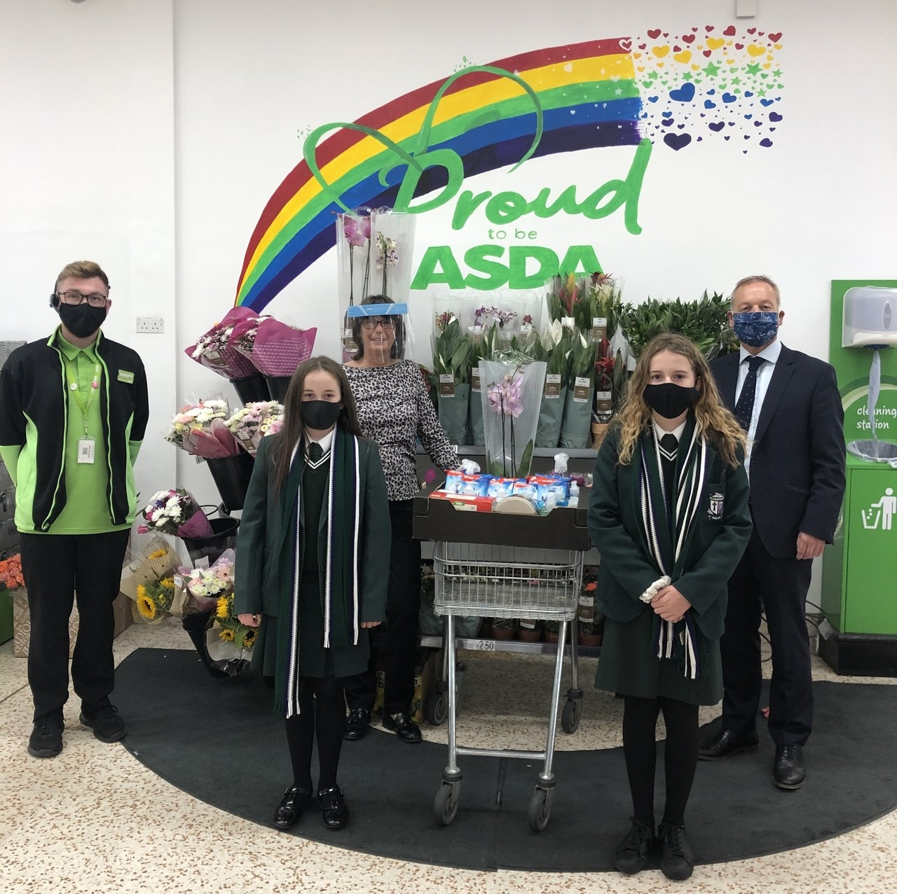 St Colmcilles High School  donation | Asda Downpatrick