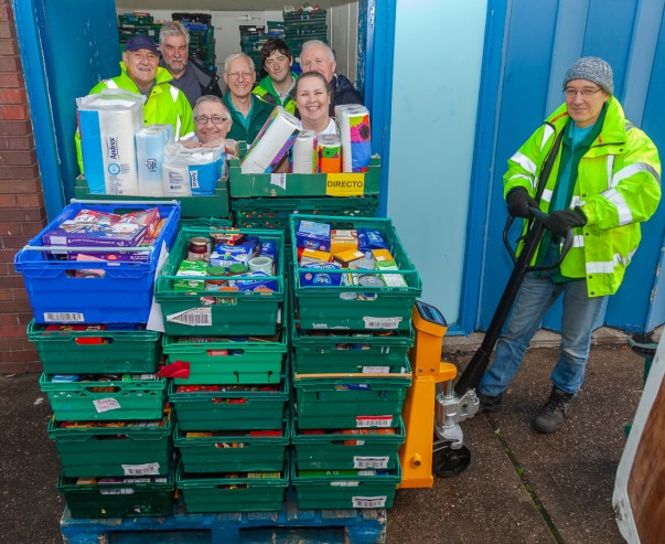 New pallet weight lifter at Wirral foodbank