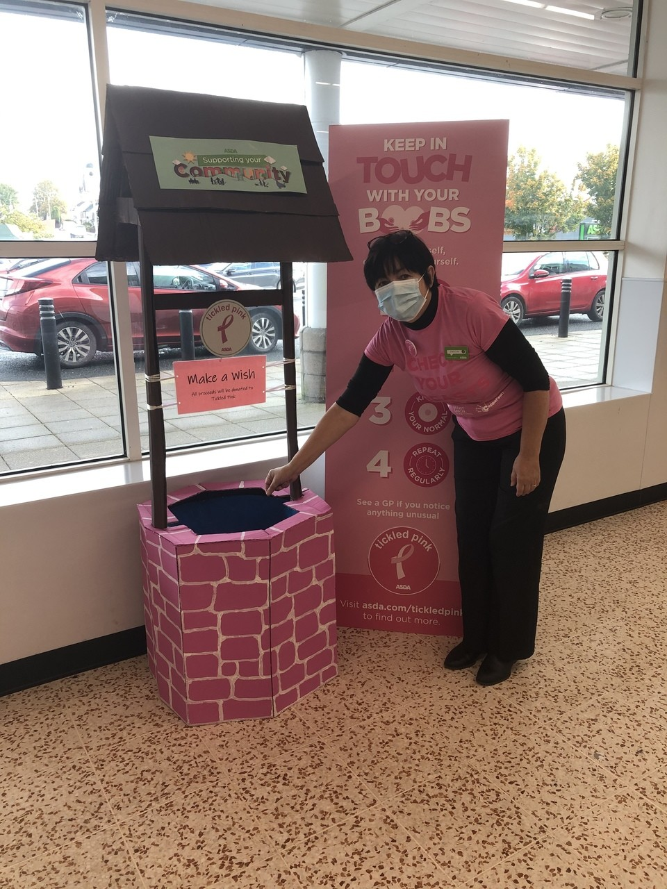 Tickled Pink wishing well | Asda Cookstown