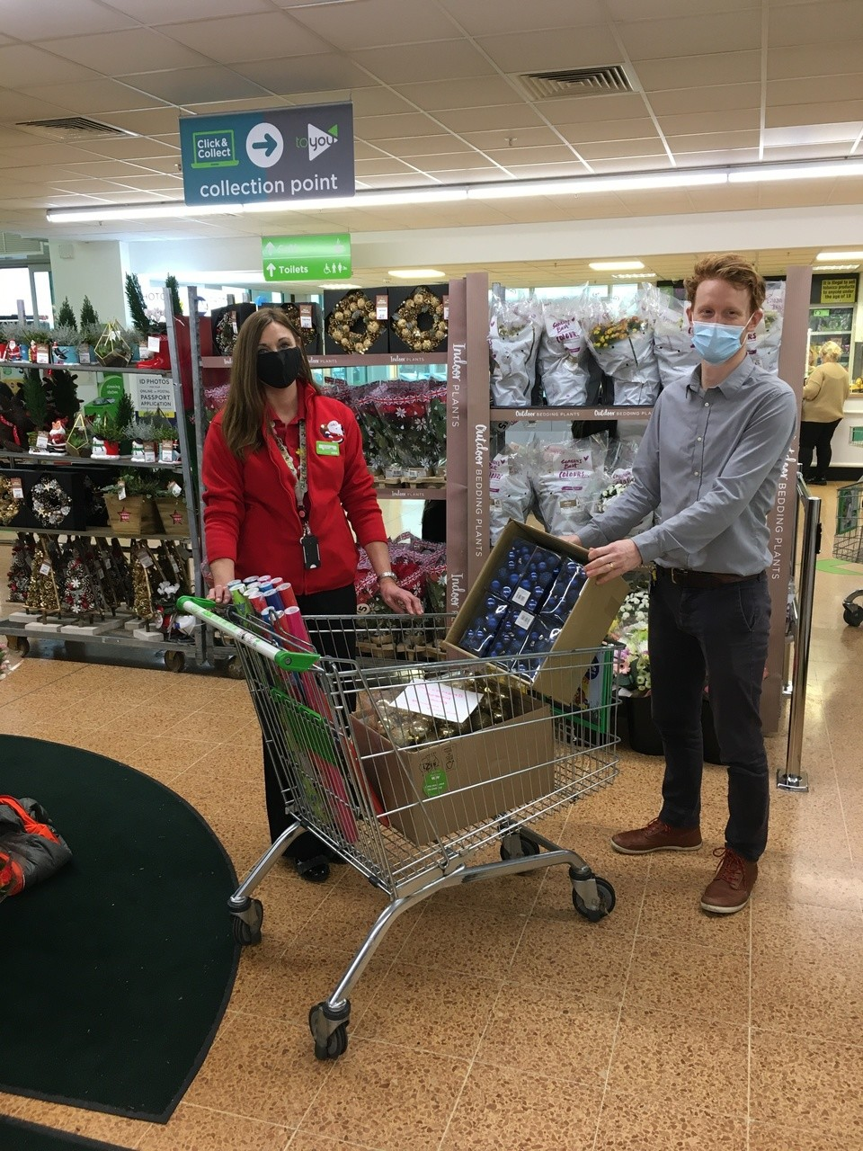 Donations of Christmas baubles to Southmead Hospital charity | Asda Longwell Green