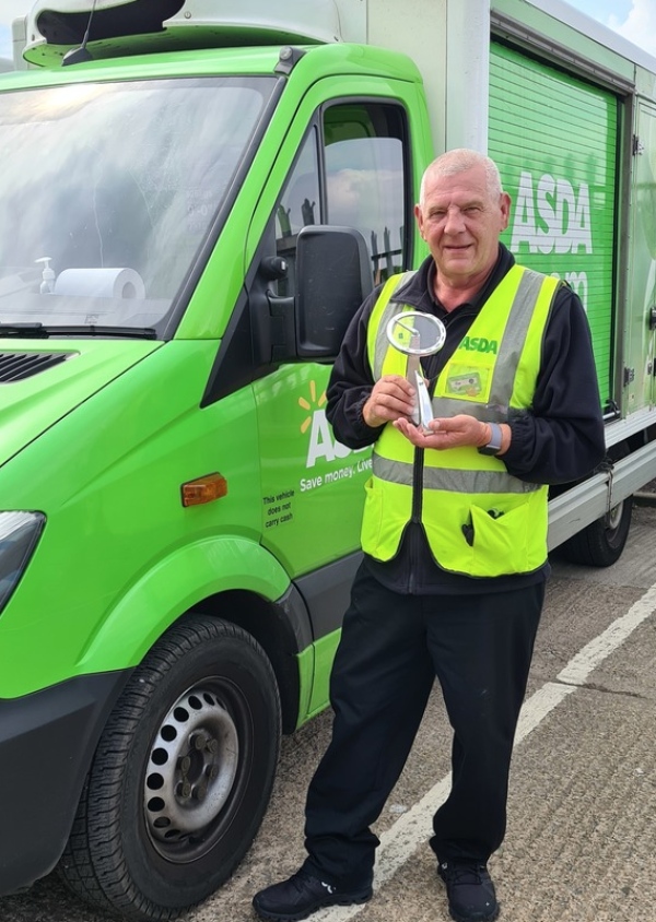 Asda delivery driver Ron Teskowski won the Extra Mile award at the Microlise Driver of the Year Awards 2021