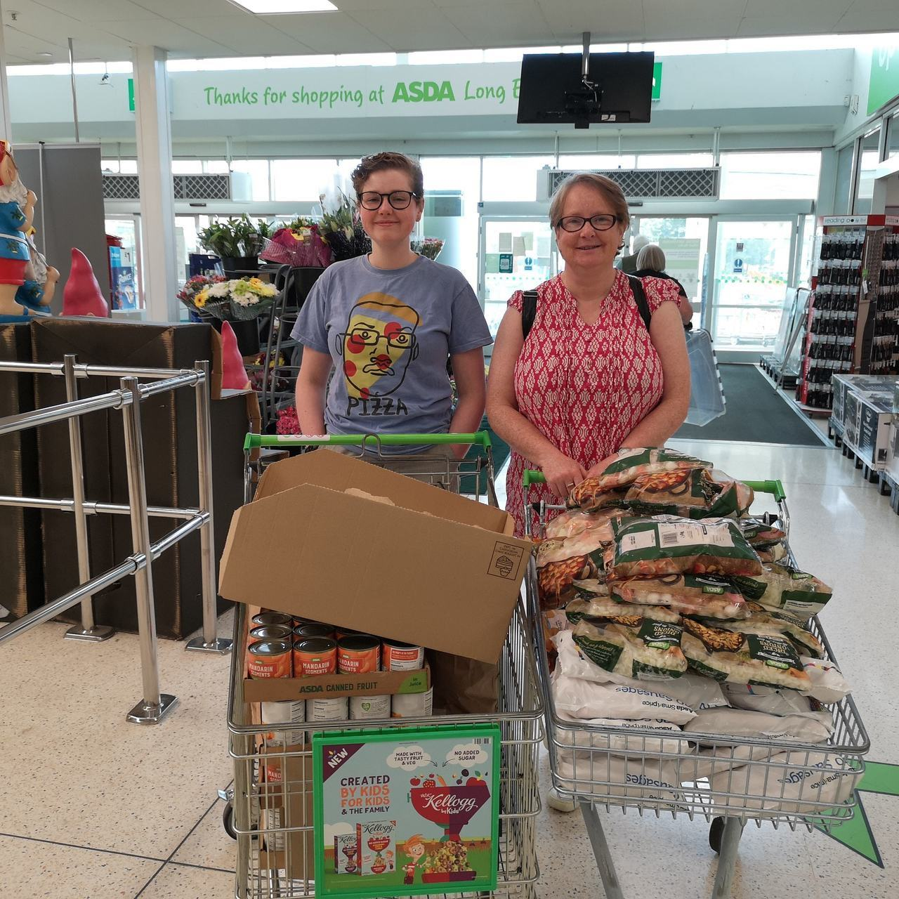 Food donation to St John's Church Long Eaton | Asda Long Eaton