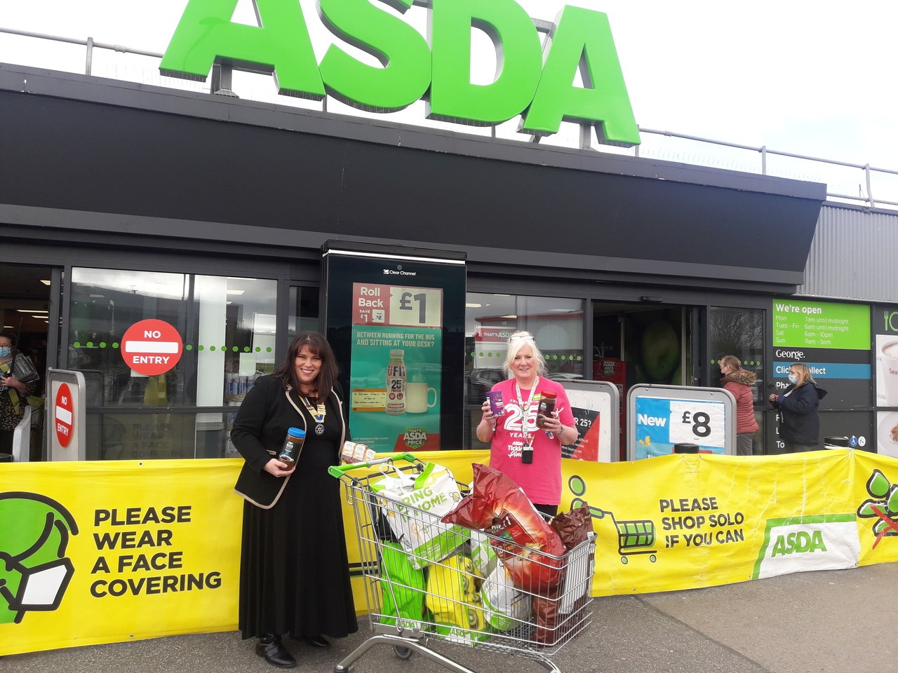 Vaccine centre donation | Asda Barrow