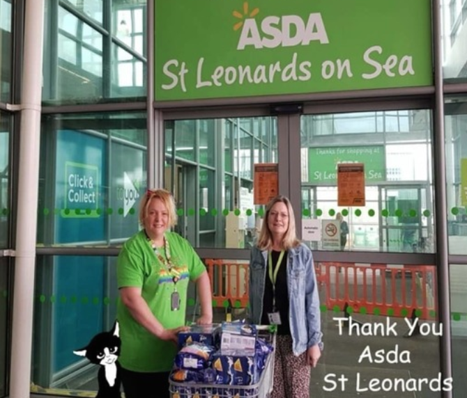 Cat Call donation  | Asda St Leonards on Sea