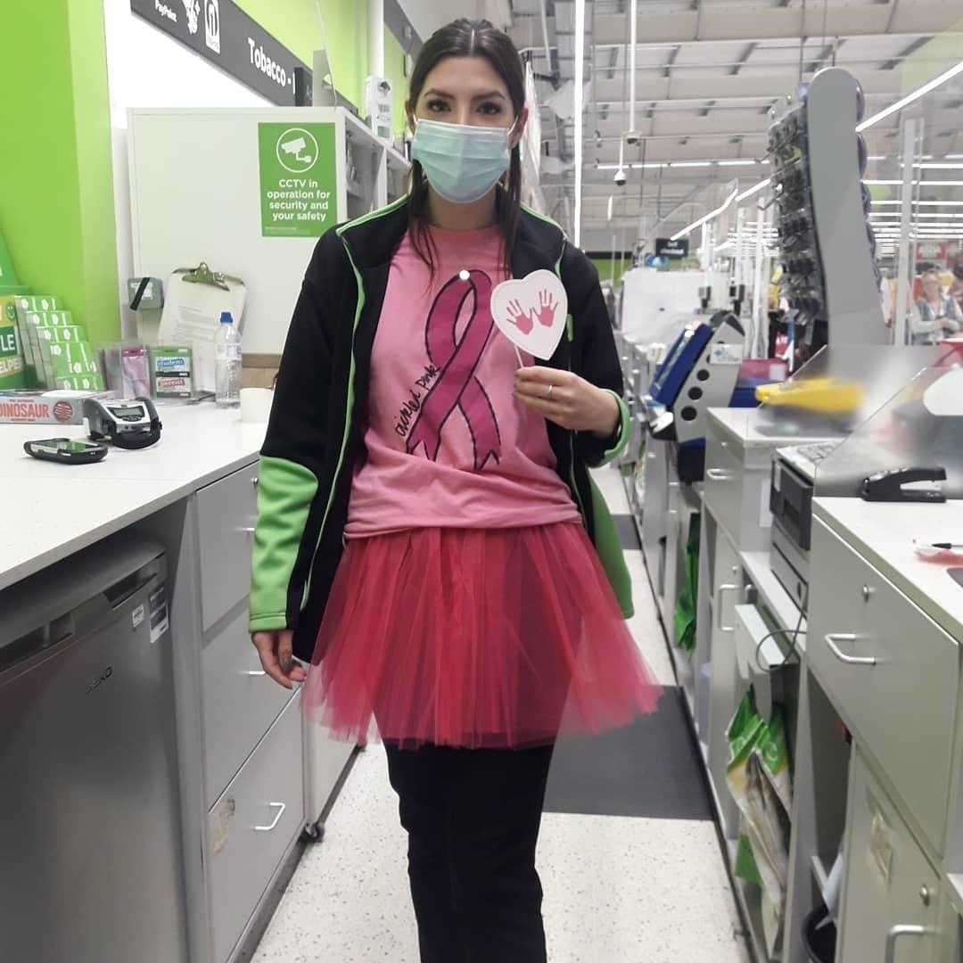 Wearing it pink | Asda Sheffield Drakehouse