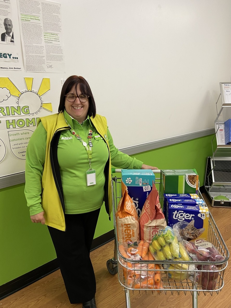 Wildlife hospital donation | Asda Worcester