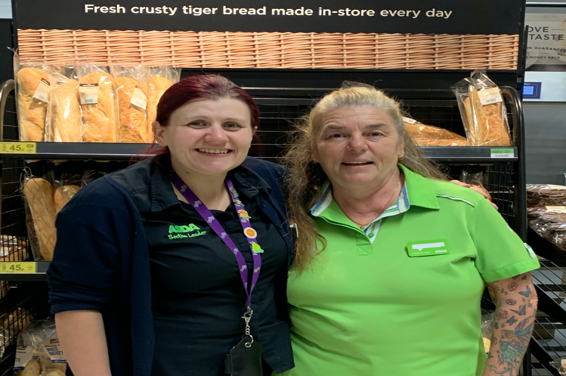 Sue Wilgress has worked at Asda South Woodham Ferrers for 35 years