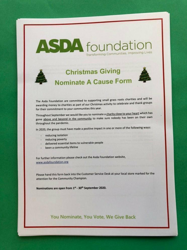 Nominate a local group for Christmas Giving | Asda Golborne