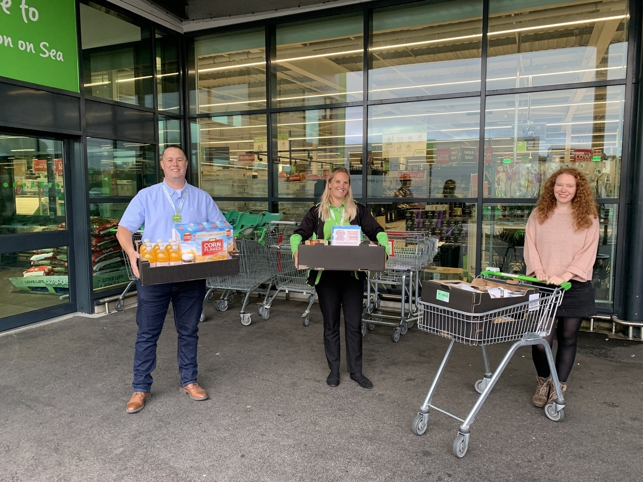 Donation of food items to Sanctuary Supported Living | Asda Clacton-on-Sea