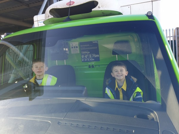 Logan and Jenson so obsessed with Asda Isle of Wight that they've made own delivery van