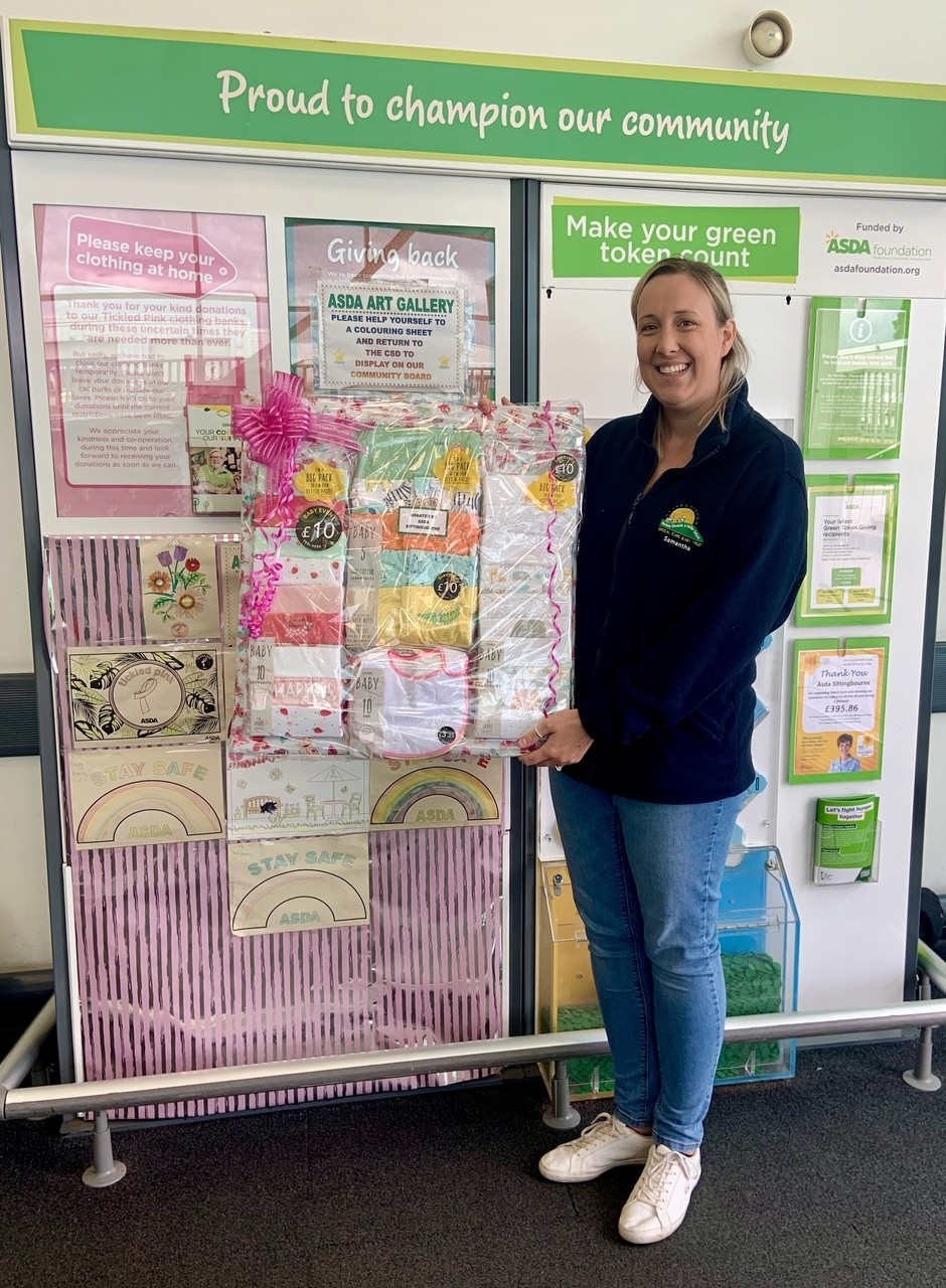 Oliver Fisher Special Care Baby Unit receives a donation | Asda Sittingbourne