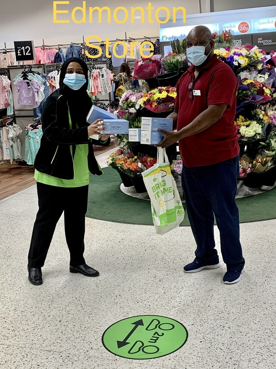 Face mask donation to care homes | Asda Edmonton Green