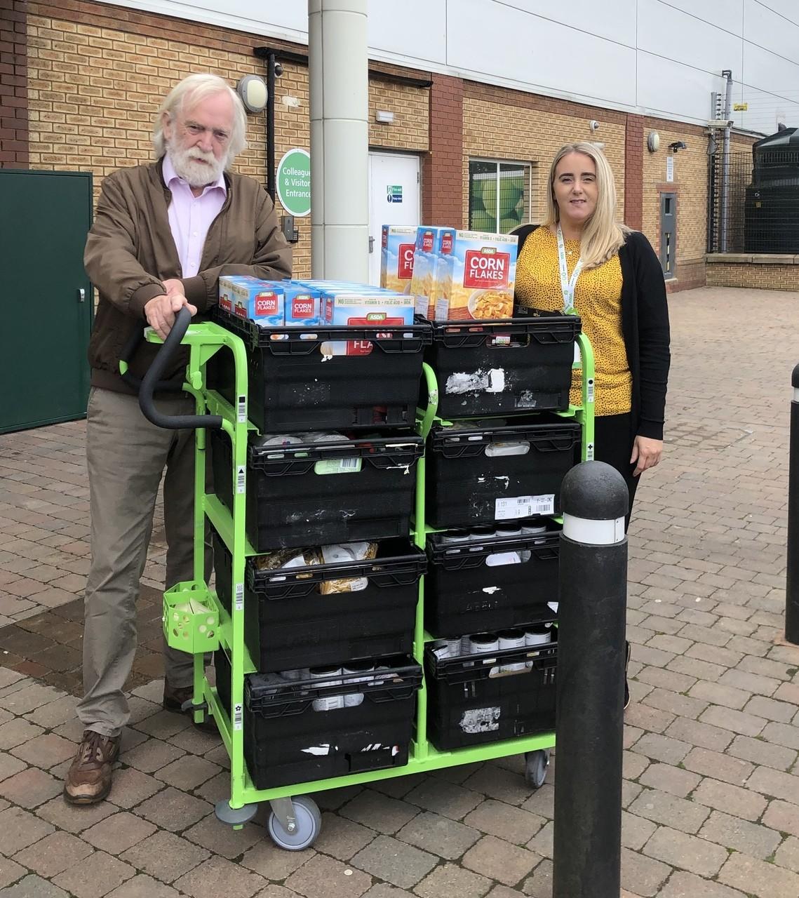 The Pantry Foodbank Donation | Asda Downpatrick