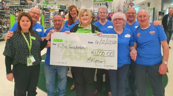 Killie Heartmates who won the recent green token giving vote at Asda Kilmarnock