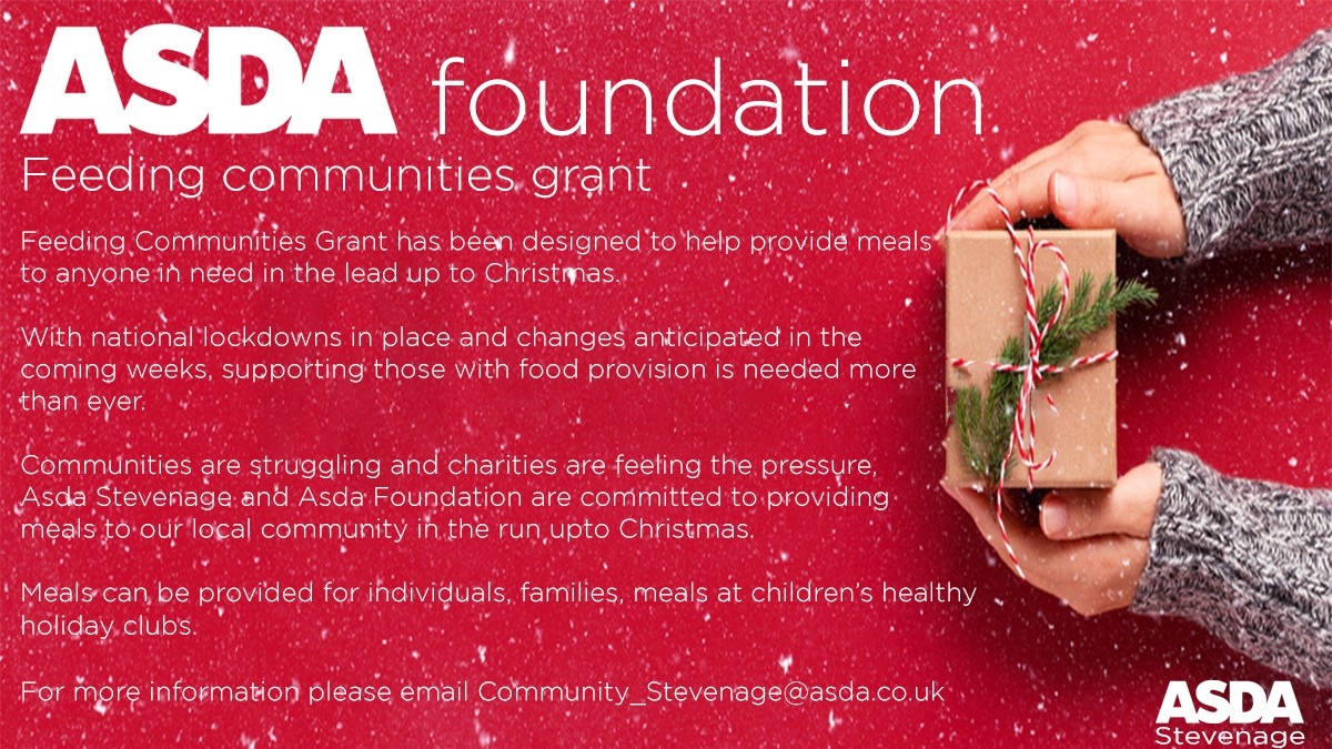 Feeding communities grant | Asda Stevenage
