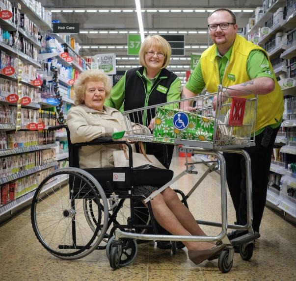 Gladys Dixon loves doing her weekly shop at Asda Blackpool