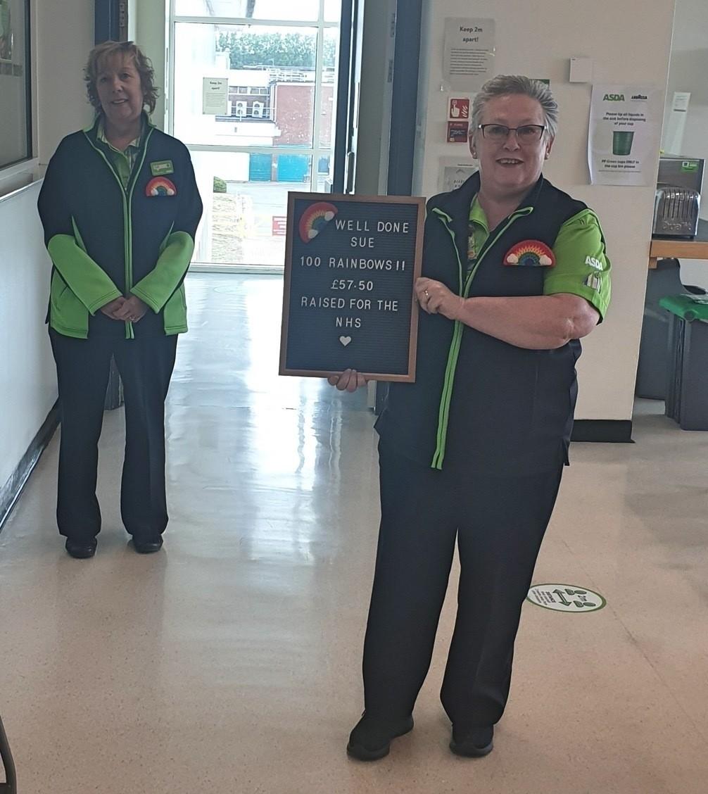 Raising money for the NHS   Asda Cwmbran