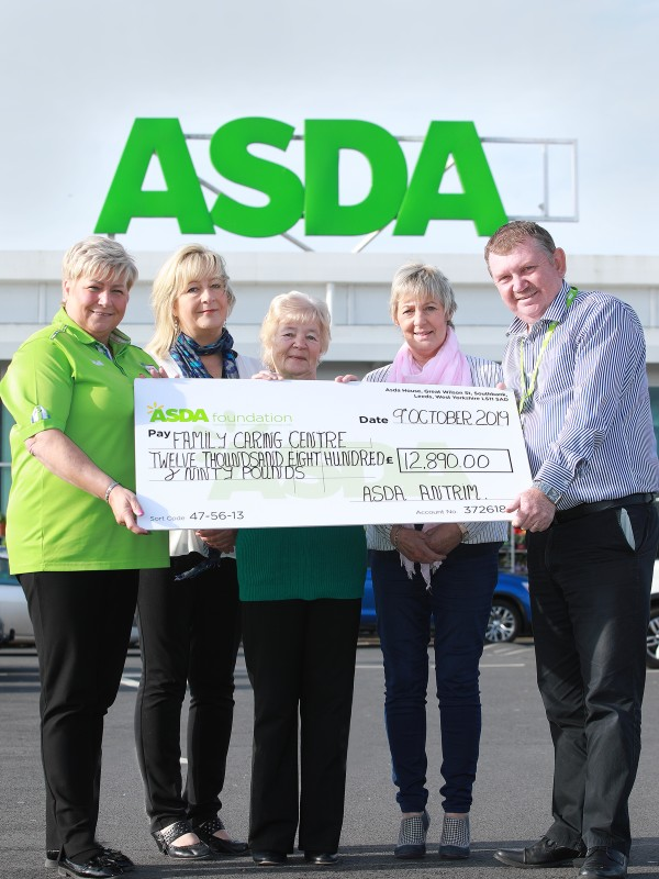 Asda Foundation £12,000 grant to the Family Caring Centre in Antrim