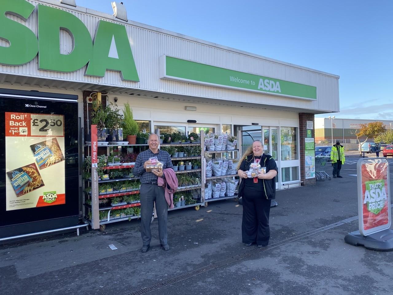 Cream tea donation | Asda Gosport