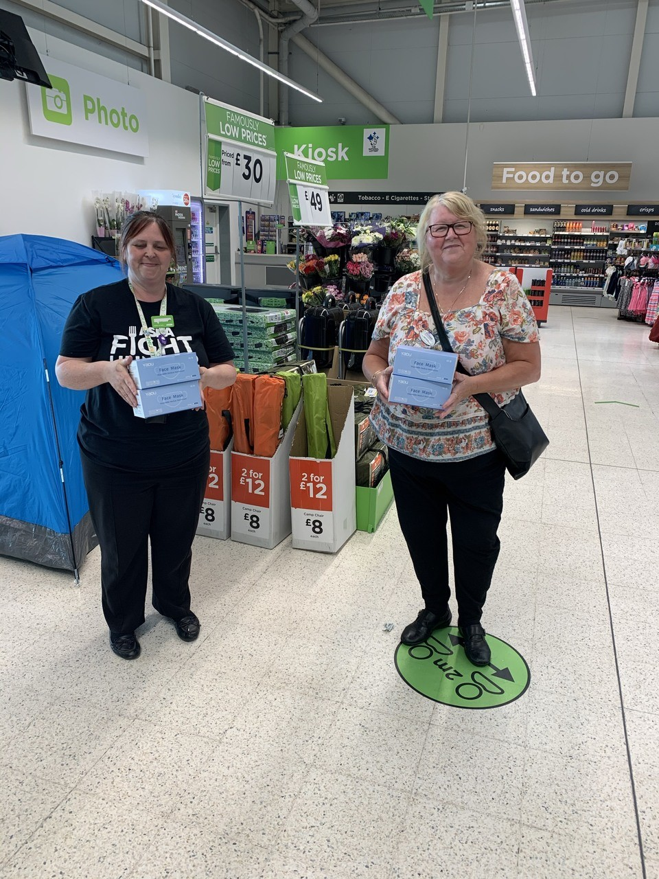 Face masks donation | Asda Sheffield Chaucer Road