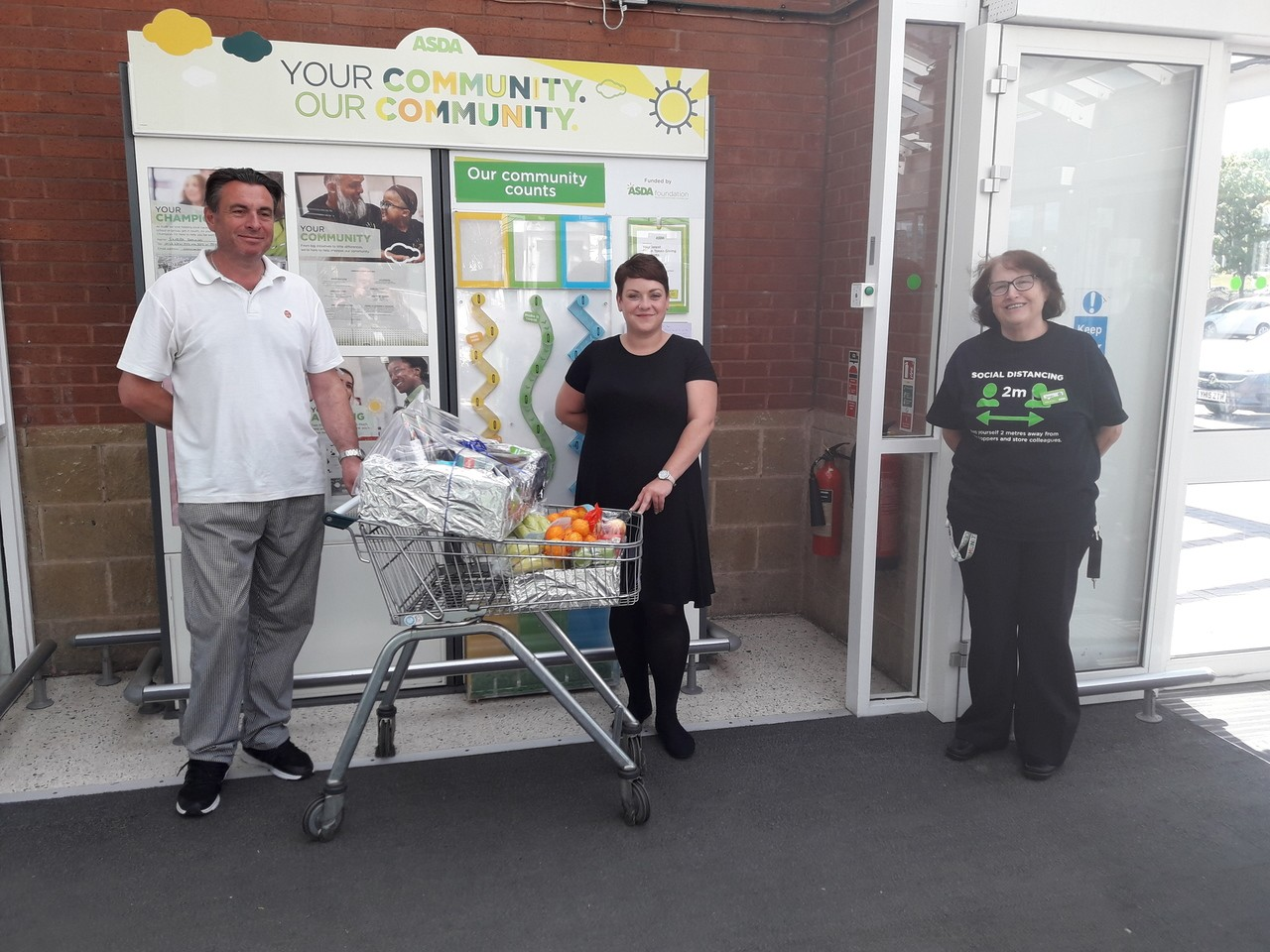 Donation to local care home | Asda Pudsey