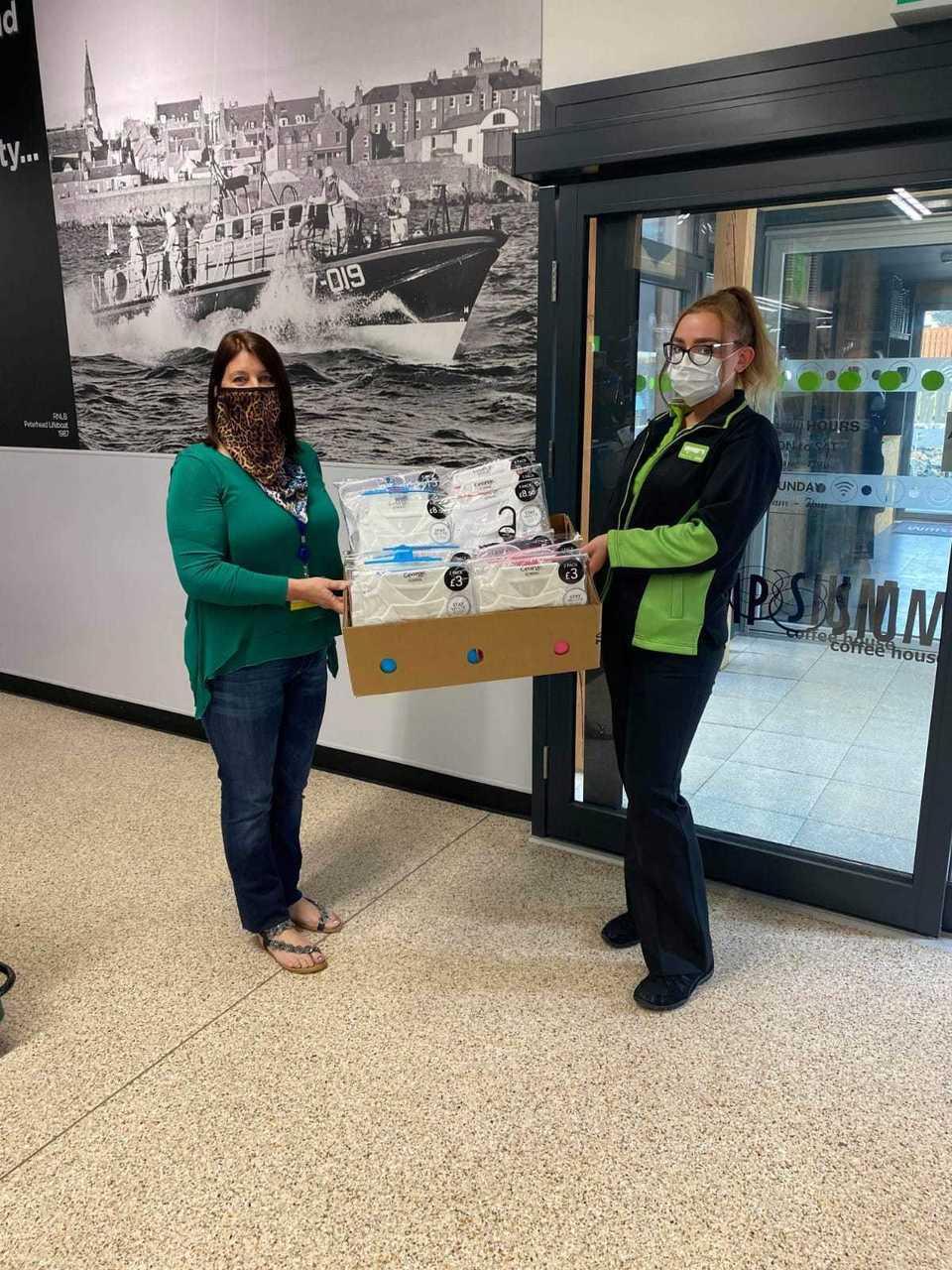 Donations to foodbank | Asda Peterhead
